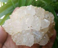 F2355  Rare Pineapple Flower White Quartz Crystal Cluster Mineral Specimen 348g