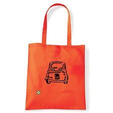 Art T-shirt, Borsa shoulder 500 Fiat, Arancio, Shopper, Mare