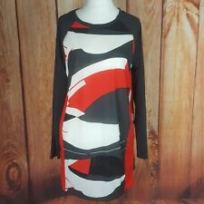 Next Size 14 Long Sleeved Abstract Print Tunic Top/Dress