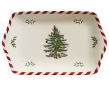 Spode Christmas Tree Peppermint Dessert Tray - New Boxed