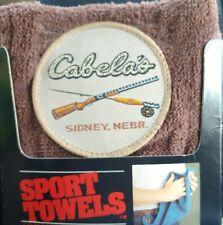 New Vintage Cabelas Sidney Nebraska Shooting Towel Brown