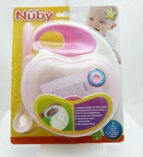 Nuby assiette pour micro-onde rose avec cuillère pour bébé dès 4 mois
