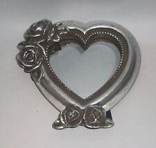 Spiegel Herz Kleiner Spiegel Antik Art Silber Farbend