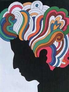 1967 Dylan Original Reproduction vintage poster by Milton Glaser