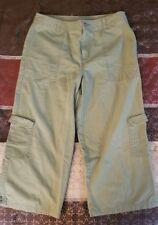 Womens White Stag Petite Green Capri Pants 33 inch Waist