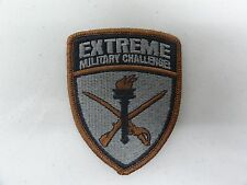 MILITARY PATCH US ARMY HOOK LOOP EXTREME MILITARY CHALLENGE
