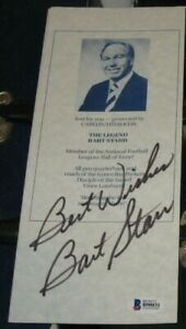 BART STARR Green Bay Packers SIGNED AUTOGRAPHED Achievement Dinner Brochure BAS