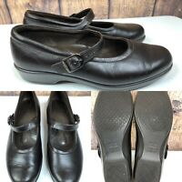 Womens SAS Tripad Comfort Black Leather Mary Janes Shoes SIZE 7.5 M
