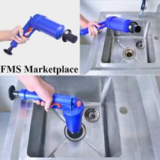 Air Power Drain Blaster Gun Powerful Manual Sink Plunger Opener Cleaner Pump WC