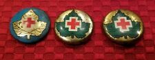 Lot of 3 Vintage Red Cross Pinbacks - Canadian Donor Pins (?) (120J)