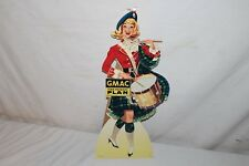 "Vintage c.1960 GMAC GM Chevrolet Car Truck Dealership Gas Oil 18"" Sign"