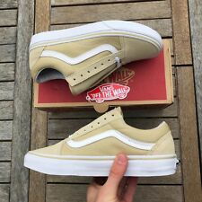 Vans Old Skool Pale Khaki And White Size UK 7 Brand New With Box And Tags
