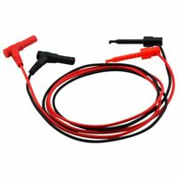 2x Security 4MM Banana Plug to Test Hook Wire Cable Set For Multimeter 3A 1 M6E4