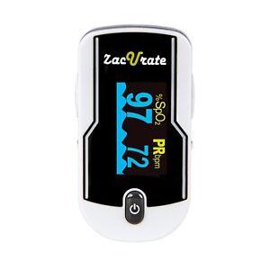 Zacurate 500E Fingertip Pulse Oximeter Blood Oxygen SpO2 Heart Rate O2 Monitor
