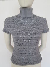 Jesire wool top/jumper silver grey with sequins, size L, brand new
