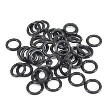 10X(Carp Fishing Tackle Rubber O Rings Black For Bite Alarms, Rod Pods, Bars N1)