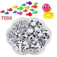 700 Googly Wiggly Wobbly Eyes Technology Mixed 7 Sizes 4mm to 14mm Kids Teddy