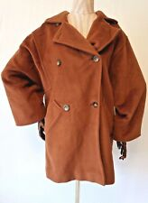 MAX MARA Dark Brown Wool & Cashmere Knee Length Coat - UK 8