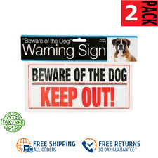 2-PACK Beware of the Dog Sign Keep Out Warning w/Screws SAME-DAY FREE SHIP
