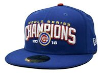 Chicago Cubs New Era 59FIFTY MLB World Series Champions Fitted Cap Hat 7 3/8