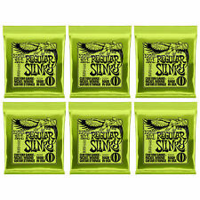 Ernie Ball Regular Slinky 2221 10-46 Nickel Wound Guitar Strings 6 Sets Packs