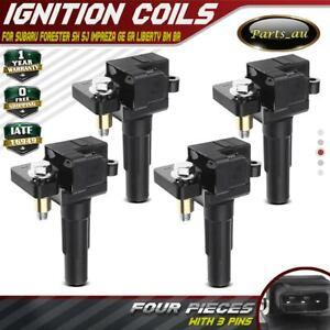 4x Ignition Coil for Subaru Forester SH SJ Impreza GE GR Liberty BR WRX STI 2.5L