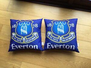 2 Everton Football Cushions