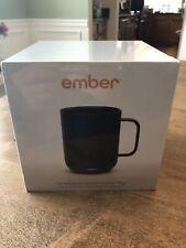 NIB SEALED EMBER BLACK TEMPERATURE CONTROL CERAMIC COFFEE TEA MUG NEW