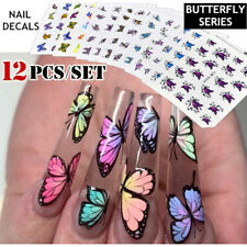 DIY Colorful 3D Butterfly Nail Sticker Transfer Decals Nail Decoration Nail Art