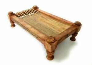 Unique Serving Wood Platter Khaat/Charpaai/Chaopowai Indian Style- Free Ship