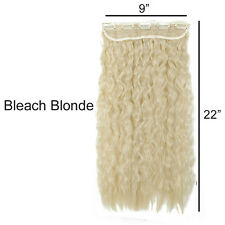 Thick Corn Wave Wavy  Clip in Hair Extension One Piece as Natural Remy Blonde A3