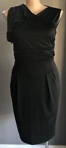 OXIULI Black Sleeveless Stretch Sheath Cocktail Dress Plus Sizes 16 & 20