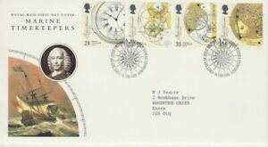 GB Stamps First Day Cover John Harrison, Watch Maker, marine SHS Compass 1993