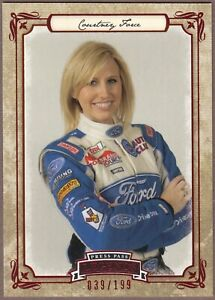 RARE 2010 Press Pass Legends COURTNEY FORCE RC Red Parallel 14: SN# 39/199 WOW!
