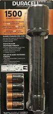 Duracell Flashlight 1500 Lumens LED Torch Stainless Steel Poly Resin, Battieries