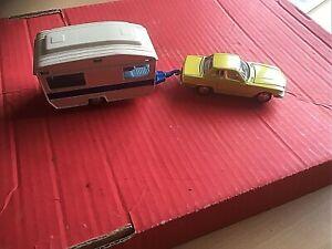 Joal  MERCEDES CAR AND CARAVAN SET  TOY DIE CAST  BOXED Diecast model vehicles