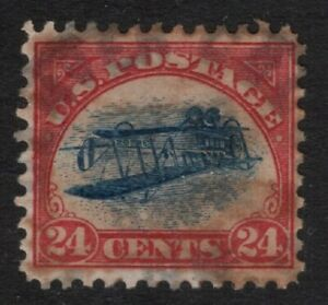 """US Scott C3a """"Used"""" Inverted Jenny Error, Scarce """"Peter Winter"""" Engraved FORGERY"""