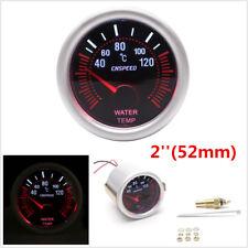 52mm Car Water Temp Temperature Gauge Smoke Lens LED Indicator Meter with Sensor