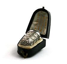 Antico Vittoriano Argento Sterling DITALE IN SCATOLA CON CUSTODIA Birmingham 1896