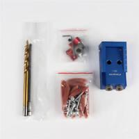 Set New w/ Step Drill Mini Pocket Hole Jig Kit Kreg Style Woodworking Joint Tool
