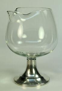 *Vintage NEWPORT GORHAM Sterling Silver & Clear Glass Sauce Boat Goblet Beaker