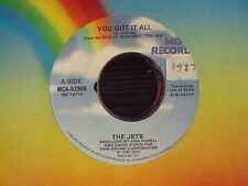 "THE JETS You Got It All/Burn The Candle 7"" 45 mid-80's teen-pop company sleeve"