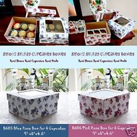 Cupcake Box Holds 6 Cupcakes film Window on Lid Sturdy Boxes