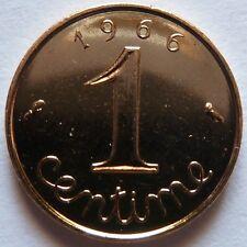 1 Centime Epi 1966 plaqué Or. Pour faire un cadeau souvenir du Franc