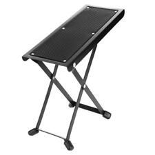 Guitar Guitarist Foot Stool Rest Adjustable Height Rest Stand Sturdy Metal Frame