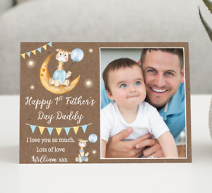 Personalised Photo Fathers Day Card • 1st Father's Day Card • Daddy Fathers Day
