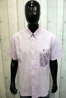 Camicia Marlboro Classics Uomo Taglia 2XL Chemise Shirt Cotone Logo Manica Corta