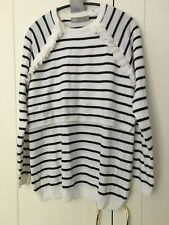 ASOS 2-in-1 nursing breastfeeding maternity jumper white striped size UK 12
