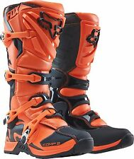 Fox Racing Youth Orange Black Comp 5 Dirt Bike Boots Motocross MX 2017 SIZE 8