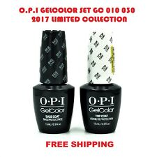 SET OPI GELCOLOR GC 010 030 Soak off Gel Top & Base Coat 0.5 oz / 15ml FREESHIP